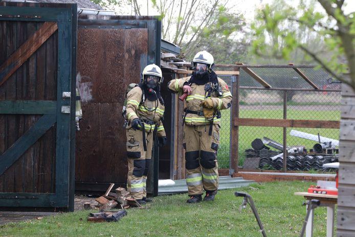 Brand in een schuur in Gemonde, waar een kleine hoeveelheid asbest vrij is gekomen