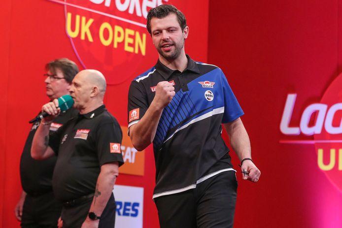 Maik Kuivenhoven, hier eerder deze maand tijdens de UK Open darts.