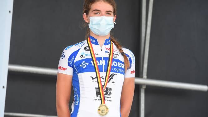 """Dina Boels is enige Brabantse medaillewinnaar op BK nieuwelingen: """"Goed dat ik niet achter de winnares gesprongen ben"""""""