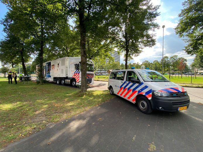 Informatiebus van politie in Veldhuizen