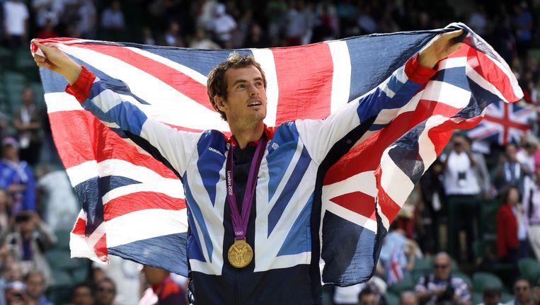 Triomfeert Andy Murray in Rio niet meer met de Union Jack, maar met de Schotse vlag? Beeld AP