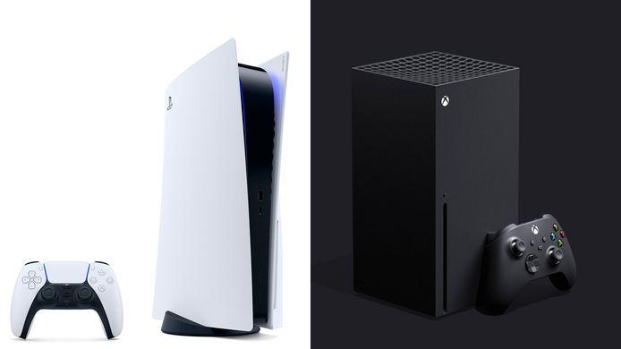 PlayStation 5 (Sony) et la Xbox Series X (Microsoft)