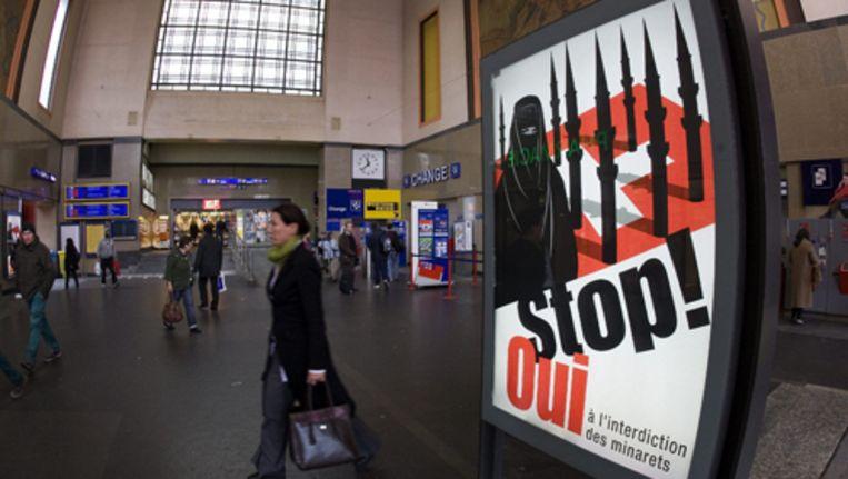 Zwitserland vreest de 'wraak' van de islamitische wereld, zoals Denemarken overkwam naar aanleiding van de Mohammedcartoons. Foto AP Beeld