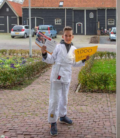 Kevin (7) uit Schore is misschien wel de beste lootjes-verkoper van Nederland