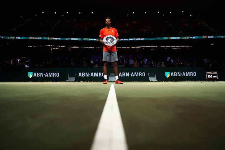 Gaël Monfils na zijn winst in de finale van het ABN Amro-toernooi Beeld Getty Images
