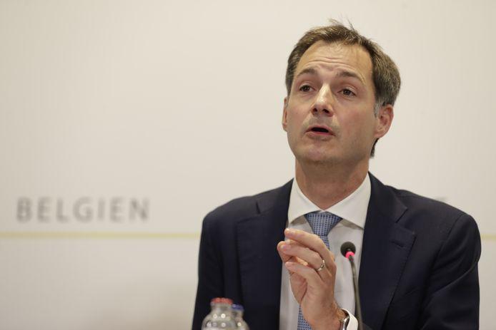Le Premier ministre Alexander De Croo