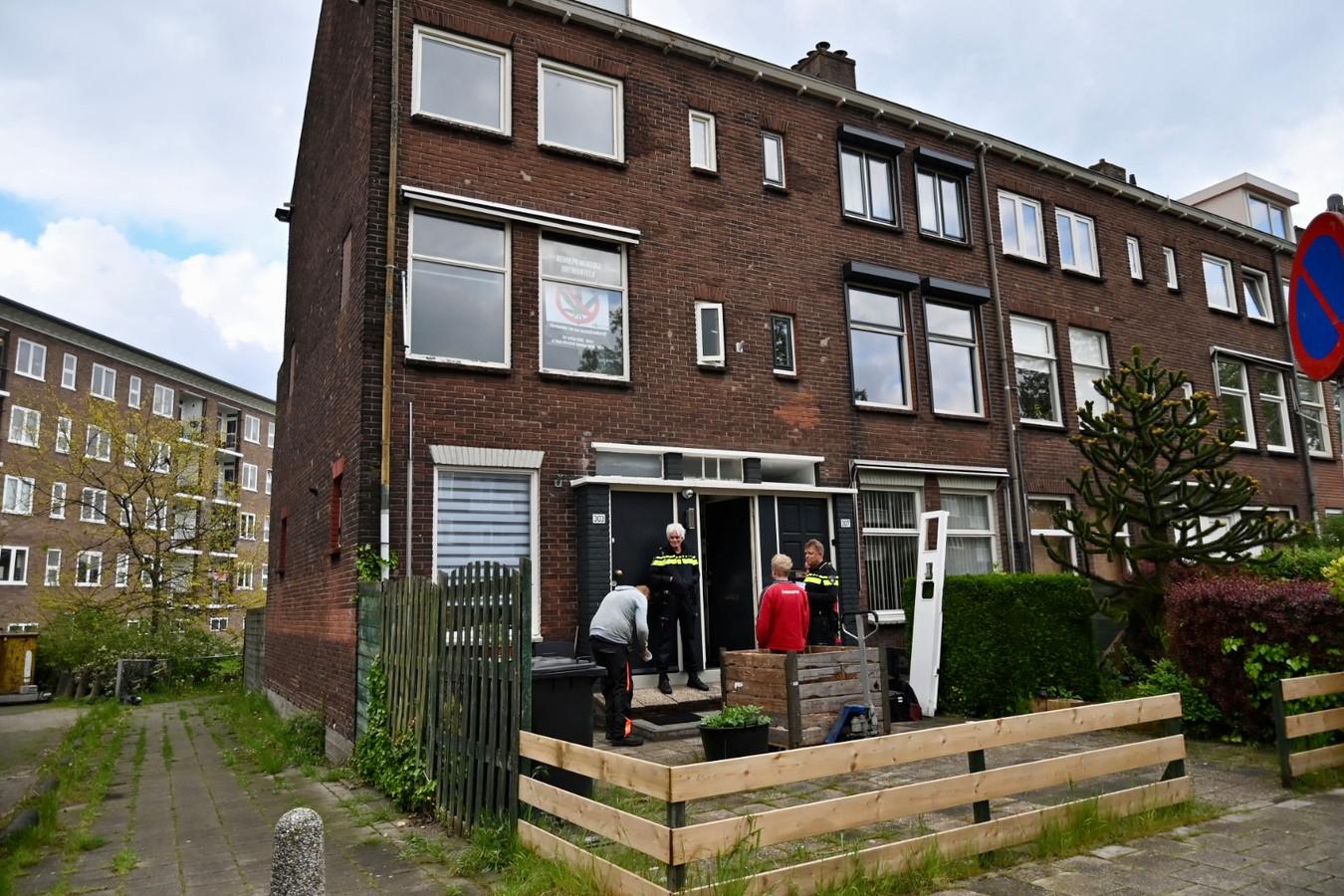 De woning waarin de wietkwekerij werd aangetroffen.