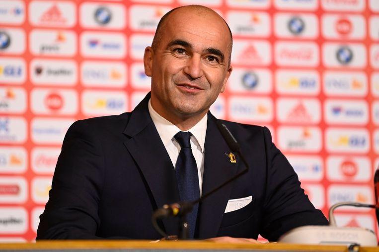 De persconferenties van Roberto Martinez zijn voortaan te volgen via de RBFA-app. Beeld Photo News