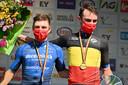 Ook Yves Lampaert en Remco Evenepoel, de nummers één en twee op het BK tijdrijden afgelopen woensdag in Ingelmunster, krijgen dus financiële steun van Safety Jogger.