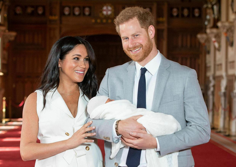 Prins Harry en Meghan Markle met hun zoon Archie.