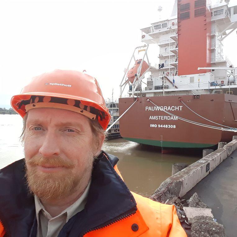 Kapitein Joris van Vuuren, in New Orleans. Beeld