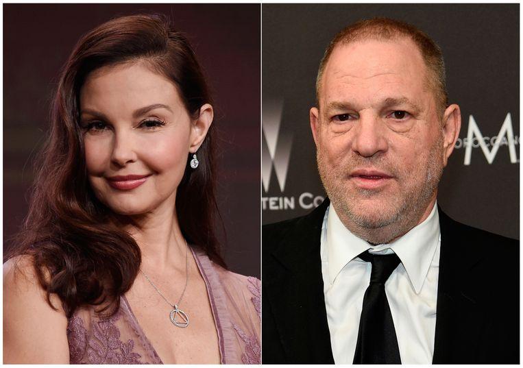 Ashley Judd (links) en Harvey Weinstein. Beeld Chris Pizzello/Invision/AP
