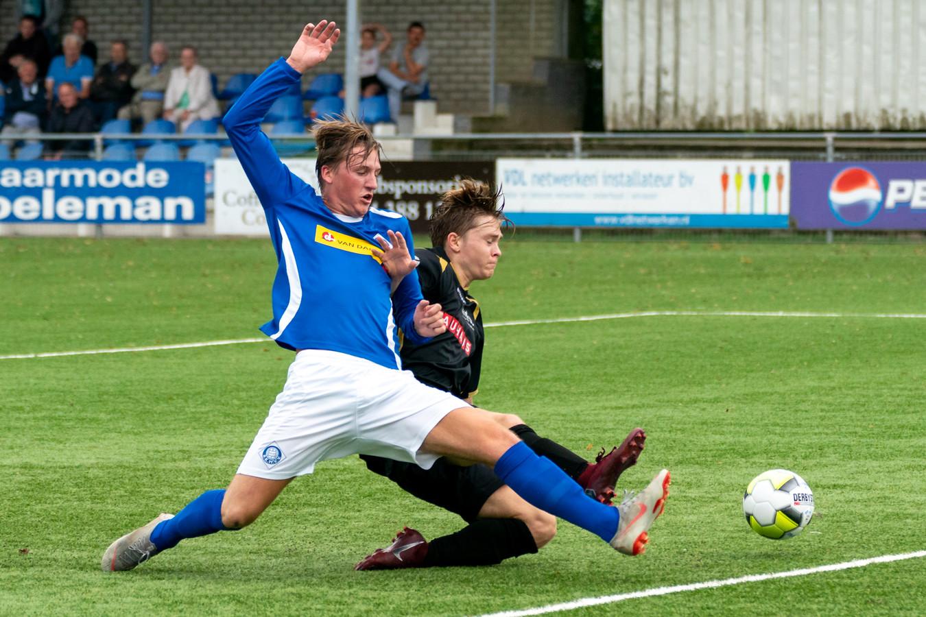 Luuk Pelkman, hier recent in actie tegen ATC'65, scoorde tegen Brakkenstein.