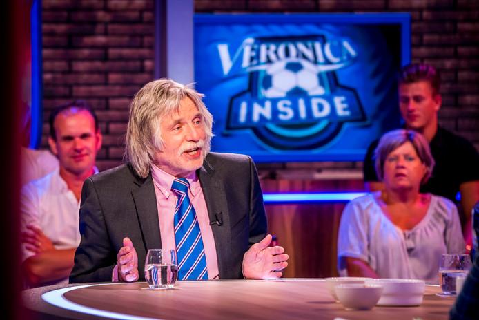 Johan Derksen tijdens een uitzending van het tv-programma Veronica Inside.