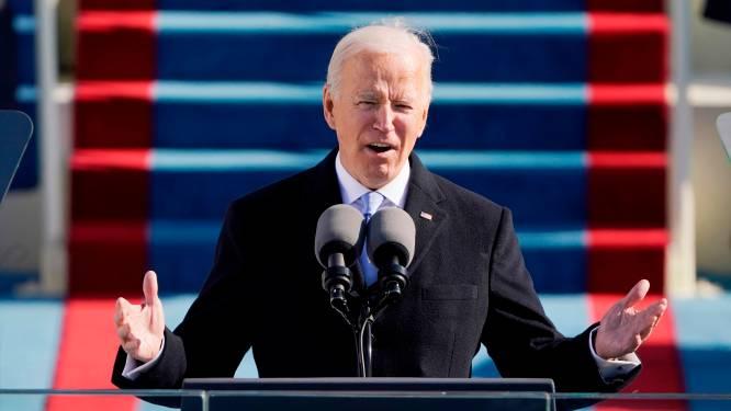 """Biden spreekt verbindende woorden in eerste presidentiële speech: """"Eenheid is geen domme fantasie"""""""