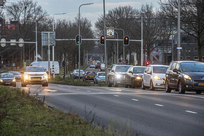 De Zwartewaterallee in Zwolle.