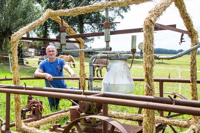 Gerard Westenenk zet volgende week een antieke melkmachine in zijn weiland om het stöppelhaene-gevoel een beetje over te brengen.
