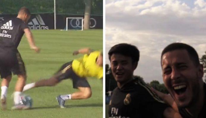 Eden Hazard est déjà en jambes (et de bonne humeur)