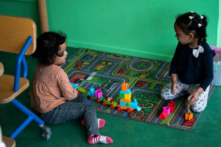 Een 24-uurs kinderopvang voor kinderen van ouders met een vitaal beroep tijdens de coronacrisis. Ook toen bleef de opvang open. Beeld Hollandse Hoogte /  ANP