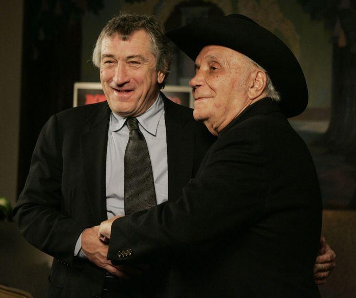 Le boxeur avec Robert De Niro en 2005.
