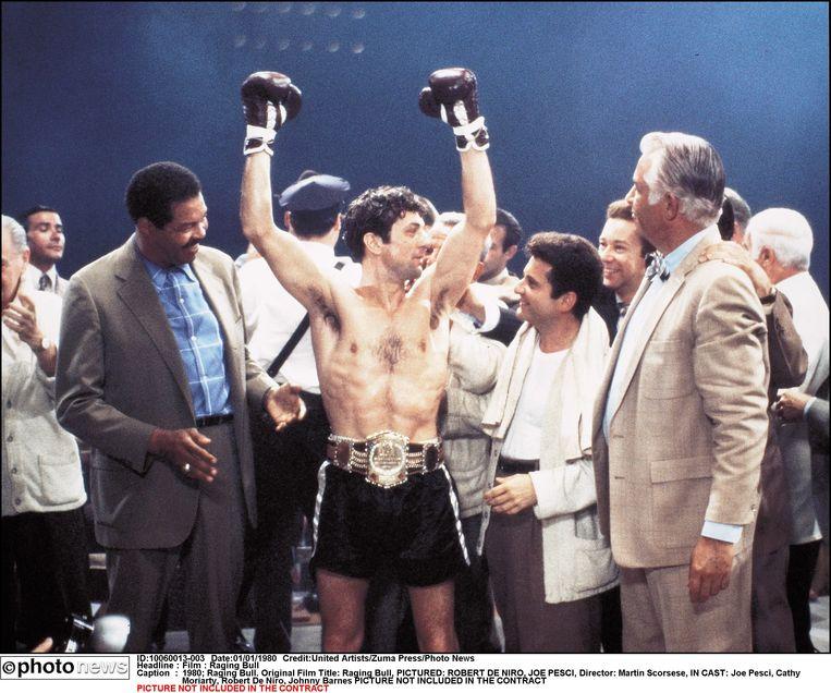 Raging Bull uit 1980 met Robert de Niro als bokser Jake LaMotta Beeld Photo News