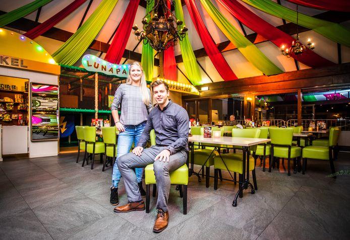 Celine en Maikel leerden elkaar kennen in het restaurant waarvan ze nu eigenaar zijn.