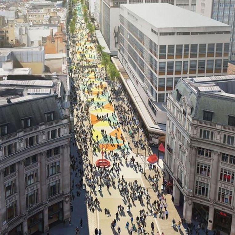 Zo zou de verkeersvrije Oxford Street er ongeveer uitzien.