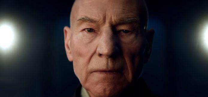 Partick Stewart als Picard.