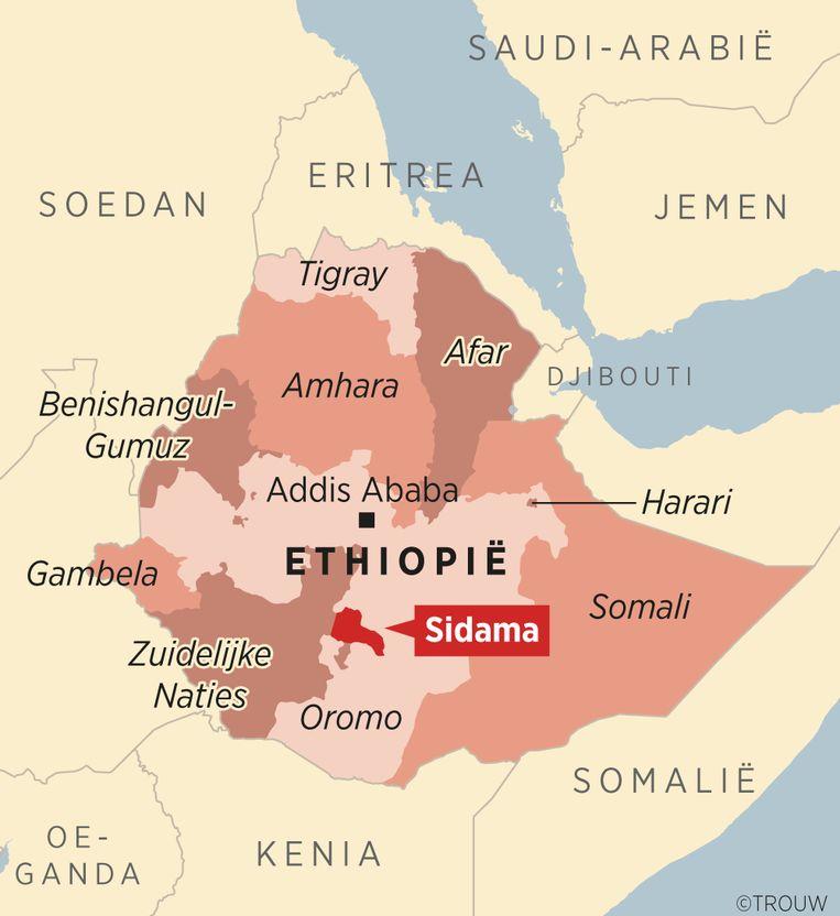 De verschillende deelstaten van Ethiopië. Beeld Louman & Friso