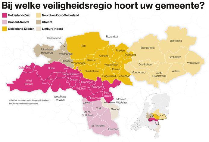 In Gelderland-Zuid en Brabant-Noord gelden vanaf zondag strengere coronamaatregelen.