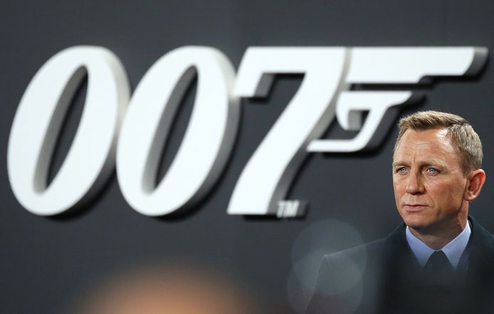 Daniel Craig op de première van 'Spectre'