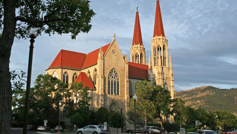 Rooms-Katholieke kerk in Helena, Mont. Beeld ap