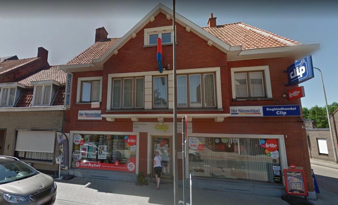 Na de overval op dagbladhandel De Clip, op de hoek van de Bruggestraat met de Nieuwstraat in Ingelmunster, kon de dader opgepakt worden.