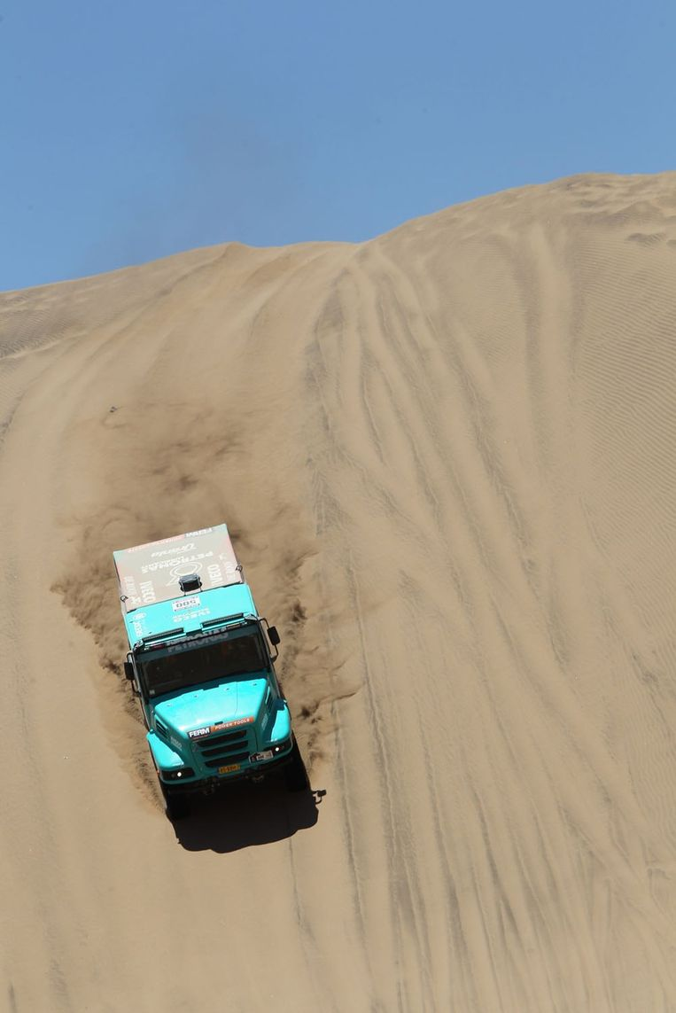 De vrachtwagen van Tom Colsoul Beeld BELGA