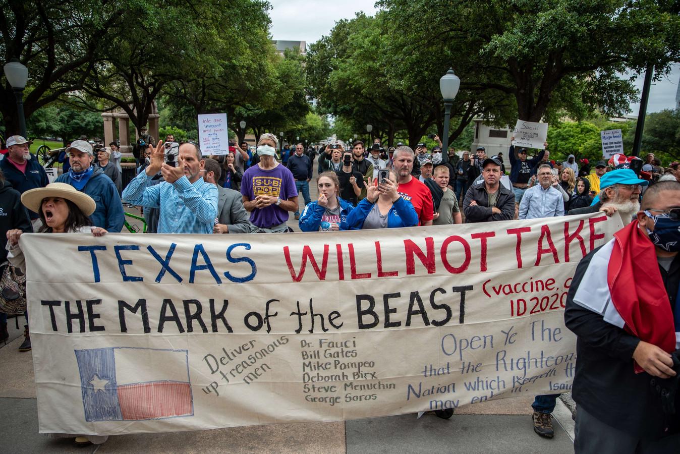 Demonstranten in Texas