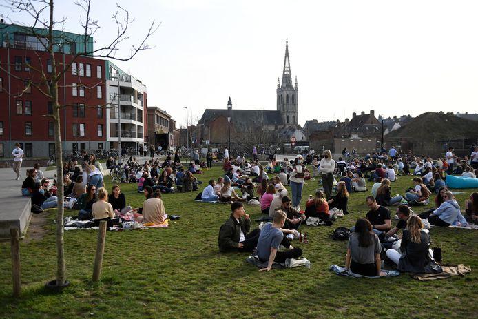 En ook in het Sluispark in Leuven was het druk