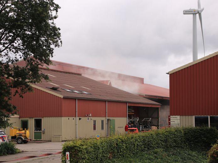 Zondagmiddag rond 12.45 uur ontstond er brand bij een groenteteeltbedrijf aan de Winkelweg in Zeewolde.