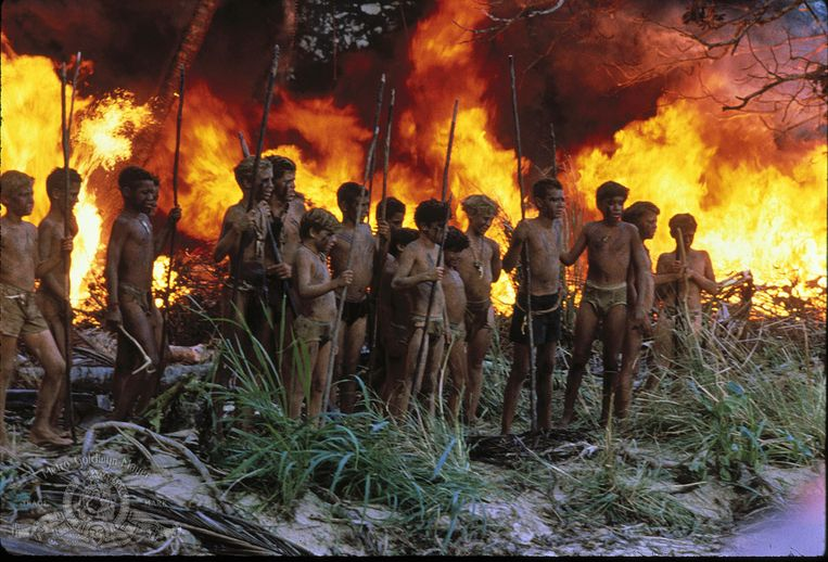 Een beeld van de 'Lord of the Flies'-film in 1990. Beeld © 1990 Metro-Goldwyn-Mayer Studios Inc. All Rights Reserved.