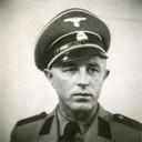 Portret van oorlogmisdadiger Josef Kotalla. Bewaker van Kamp Amersfoort in de tweede wereldoorlog