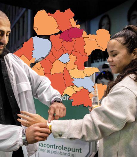KAART | Corona rukt in onze regio sterk op: piek maanden niet zo hoog geweest