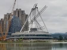 Une grande roue en construction s'effondre en Chine