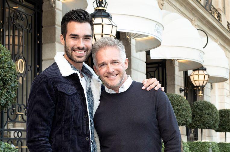 Ritchie en Christoff in Parijs.