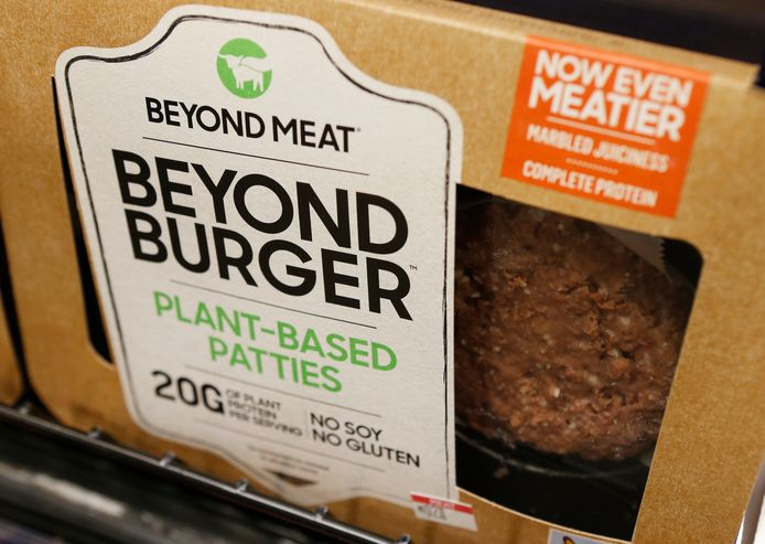 Een plantaardige burger van Beyond Meat.