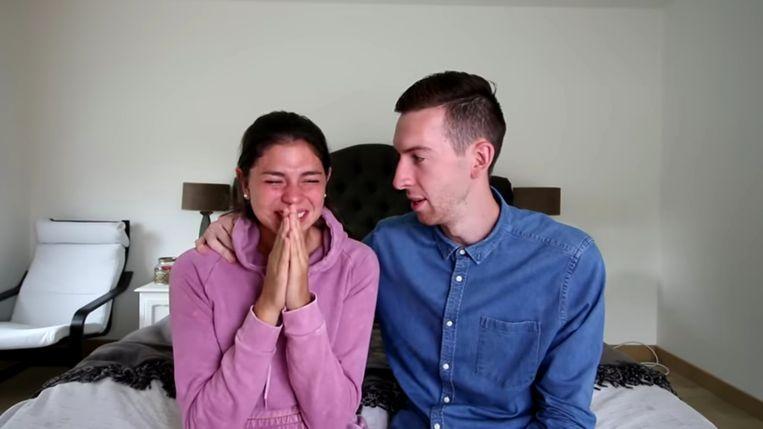 De populaire YouTubers Michiel Callebaut en Celine Dept. Beeld RV