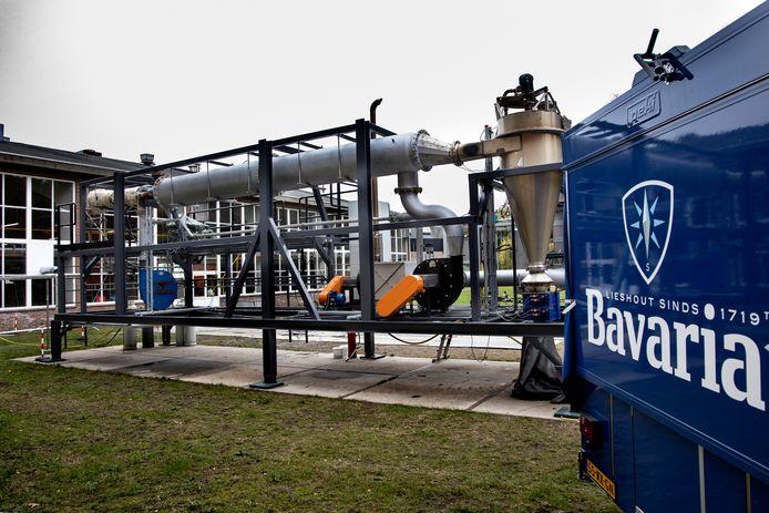 Lieshout ED2020 7082 IJzerpoeder: Peer Swinkels bij de installatie die IJzerpoeder tot de nieuwe brandstof maakt bij Bavaria