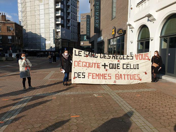 Manifestation des Femmes de Mars à Charleroi pour la journée du 8 mars