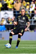 Vito Wormgoor eerder deze maand tijdens zijn debuut voor Columbus Crew in de MLS.