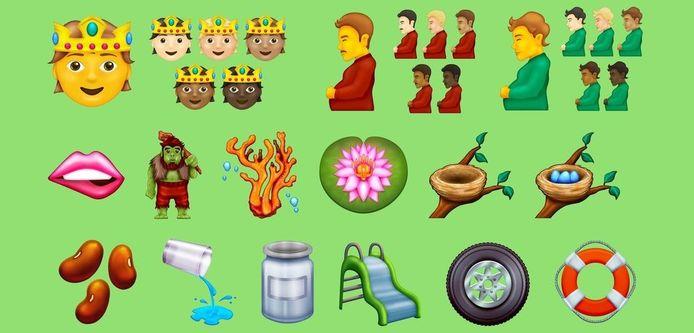 De nieuwe lading emoji.