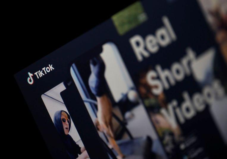 Interface van TikTok, voordien bekend als musical.ly Beeld REUTERS