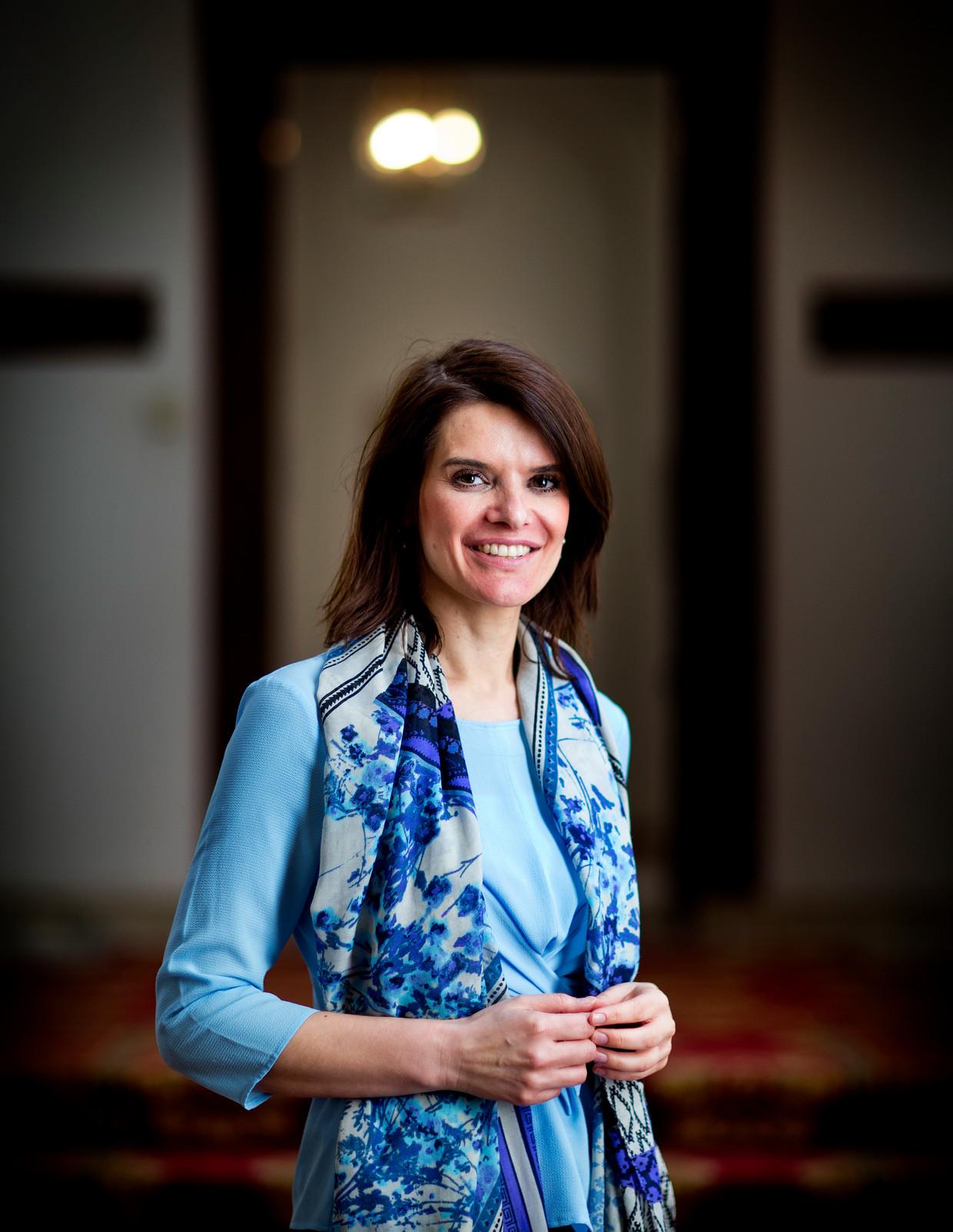 Staatssecretaris Barbara Visser van Defensie (VVD). Beeld Guus Schoonewille
